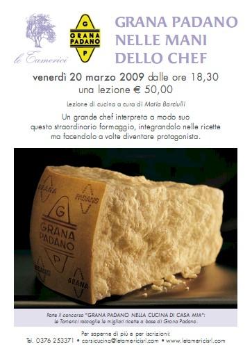 Locandina Grana Padano nelle mani dello chef
