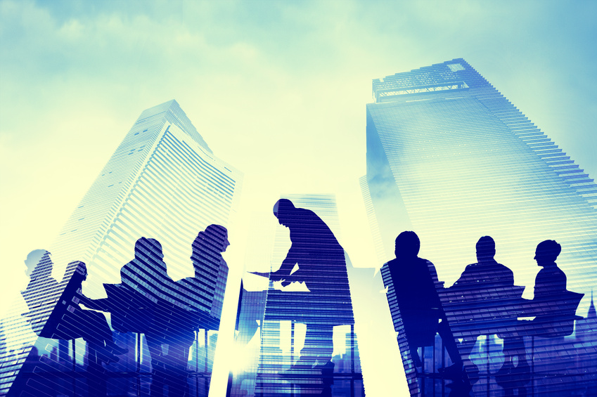 Silhouette of Business People Meeting Concepts